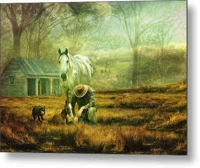 The Stock Horse Metal Print by Trudi Simmonds