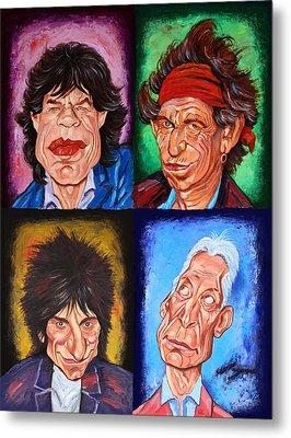 The Rolling Stones Metal Print by Dan Haraga
