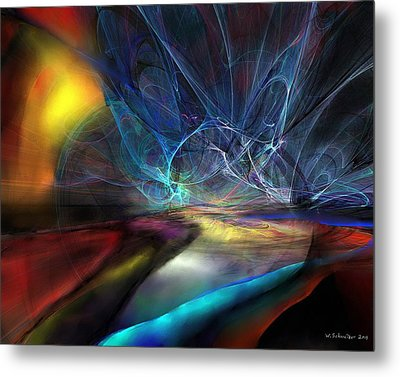 The Storm Metal Print by Wolfgang Schweizer