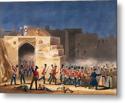 The Storming Of Ghuznee, Inside View Metal Print by English School