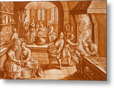 The Story Of Mary And Martha Metal Print by Mattaus II Merian