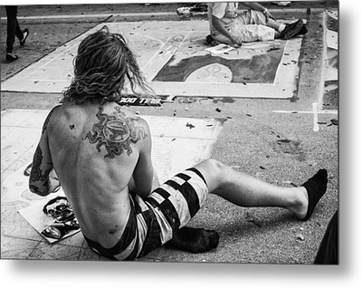 The Street Painter Metal Print by Armando Perez