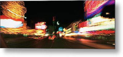 The Strip At Night, Las Vegas, Nevada Metal Print by Panoramic Images