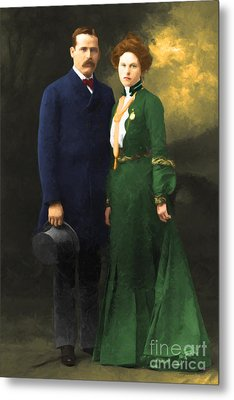 The Sundance Kid Harry Longabaugh And Etta Place 20130515 Metal Print by Wingsdomain Art and Photography