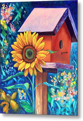 The Sunflower Suite Metal Print by Eve  Wheeler