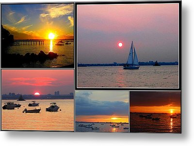 The Sunsets Of Long Island Metal Print by Dora Sofia Caputo Photographic Art and Design