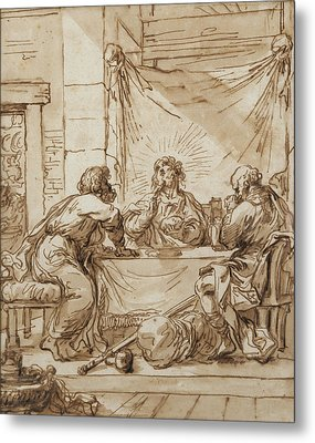 The Supper At Emmaus  Metal Print by Guercino
