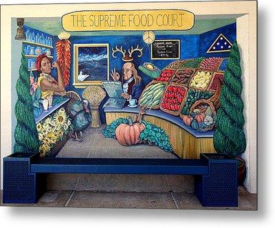 The Supreme Food Court Metal Print by Elizabeth Criss