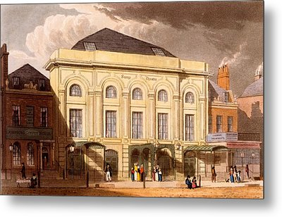 The Surrey Theatre, London, 1826 Metal Print by Daniel Havell