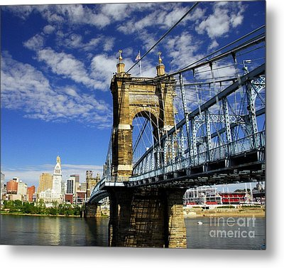 The Suspension Bridge Metal Print by Mel Steinhauer