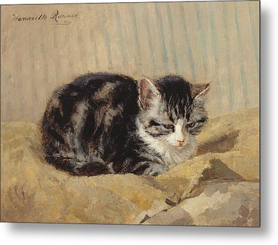 The Tabby Metal Print by Henriette Ronner-Knip