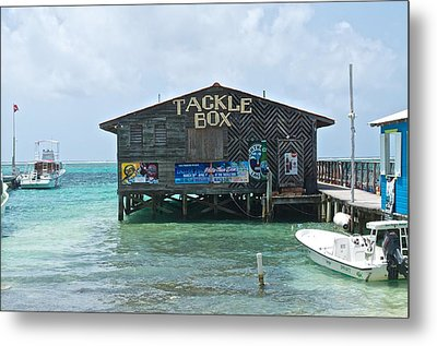 The Tackle Box Sign Metal Print by Kristina Deane