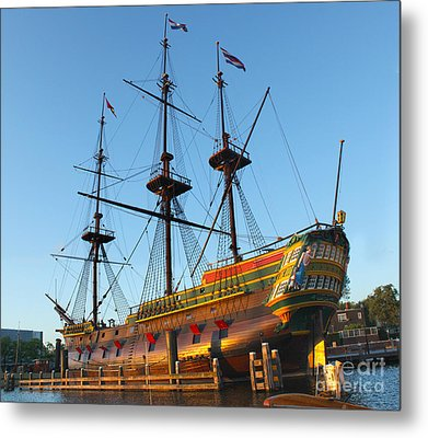 The Tall Clipper Ship Stad Amsterdam - Sailing Ship  - 04 Metal Print by Gregory Dyer