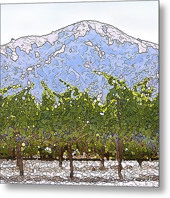 The Taste Of Wine Metal Print by Artist and Photographer Laura Wrede