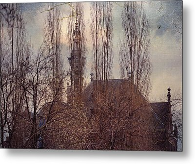 The Temple Bell Dies Away 2. Pink Spring In Amsterdam Metal Print by Jenny Rainbow