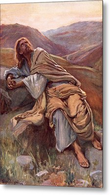 The Temptation Of Christ Metal Print by Harold Copping