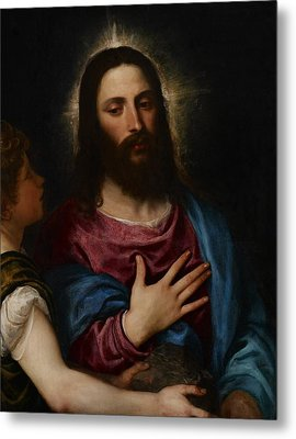 The Temptation Of Christ Metal Print by Titian