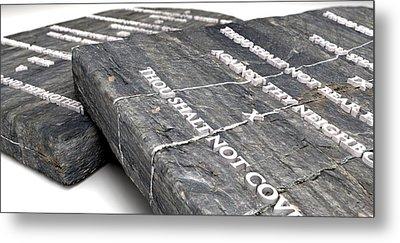 The Ten Commandments Metal Print by Allan Swart