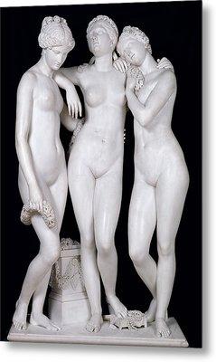 The Three Graces Metal Print by James Pradier