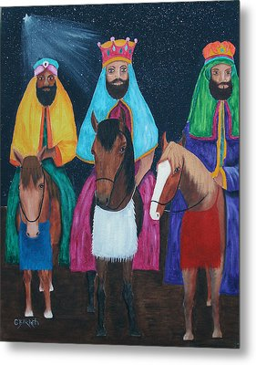 The Three Kings Metal Print by Gloria E Barreto-Rodriguez