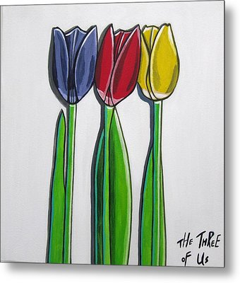 The Three Of Us Metal Print by Sandra Marie Adams