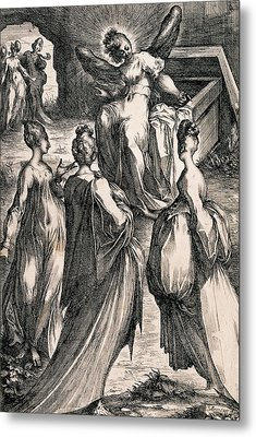The Three Women At The Tomb Metal Print by Jacques Bellange