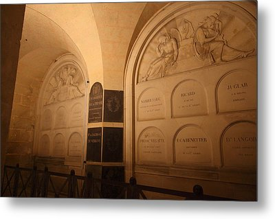 The Tombs At Les Invalides - Paris France - 011335 Metal Print by DC Photographer