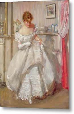The Torn Gown Metal Print by Henry Tonks