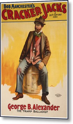 The Tramp Balladist Metal Print by Aged Pixel