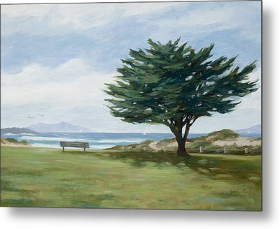 The Tree At Marina Park Metal Print by Tina Obrien