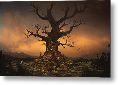 The Tree Metal Print by Cassiopeia Art
