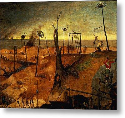 The Triumph Of Death Metal Print by Pieter the Elder Bruegel