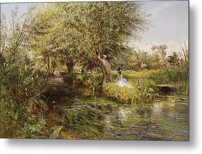 The Trysting Place Metal Print by Charles James Lewis