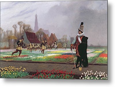 The Tulip Folly Metal Print by Jean Leon Gerome