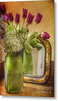 The Tulips Stand Arrayed - A Still Life Metal Print by Terry Rowe