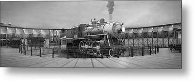 The Turntable And Roundhouse Metal Print by Mike McGlothlen