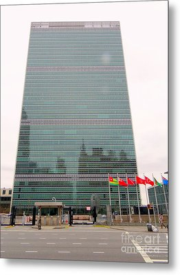 The United Nations Metal Print by Ed Weidman
