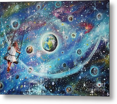 The Universe Is My Playground Metal Print by Dariusz Orszulik