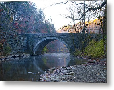 The Valley Green Bridge In Fairmount Park Metal Print by Bill Cannon