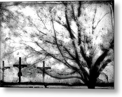 The Veil Was Torn Metal Print by Gray  Artus