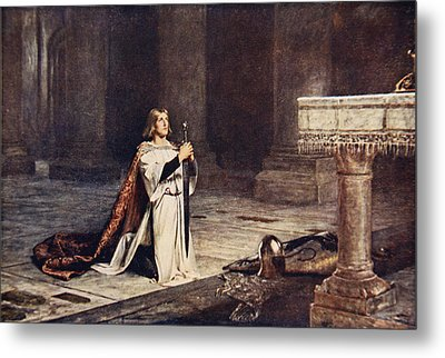 The Vigil Metal Print by John Pettie