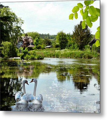 The Village Pond Metal Print by Morag Bates