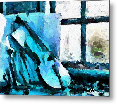 The Violin Tnm Metal Print by Vincent DiNovici