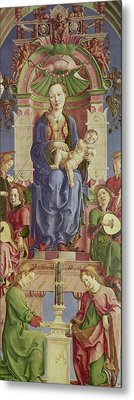 The Virgin And Child Enthroned Metal Print by Cosimo Tura