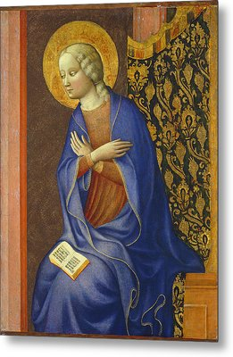 The Virgin Annunciate Metal Print by Tommaso Masolino da Panicale