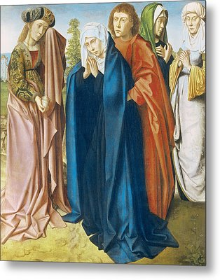The Virgin Mary With St John The Evangelist And The Holy Women Metal Print by Gerard David