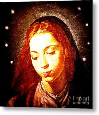 The Virgin Of The Immaculate Conception Metal Print by Patricia Januszkiewicz