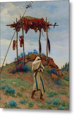 The Voice Of The Great Spirit Metal Print by Joesph Henry Sharp