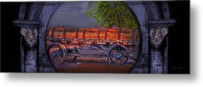 The Wagon Metal Print by Gunter Nezhoda