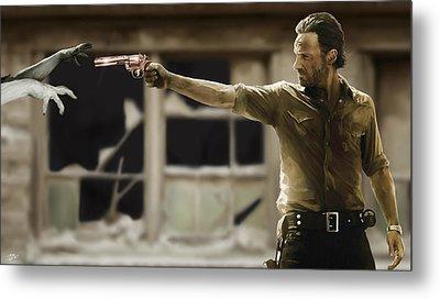 The Walking Dead Metal Print by Paul Tagliamonte